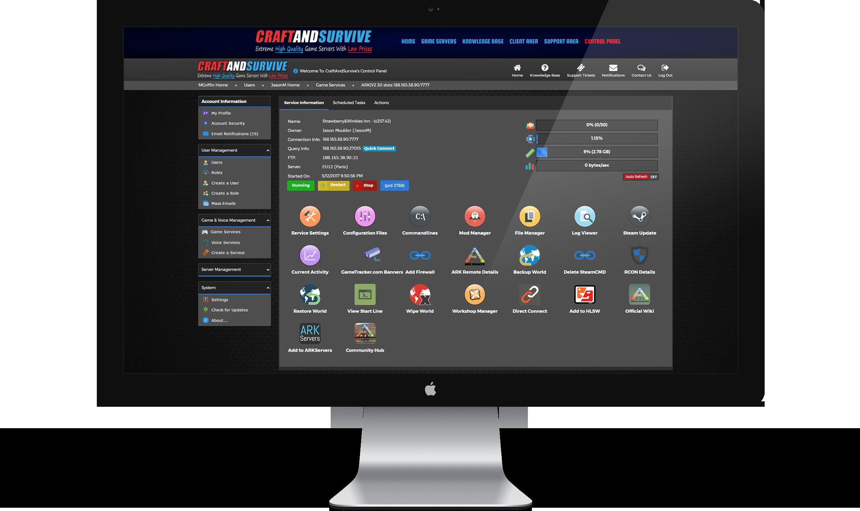control panel screenshot